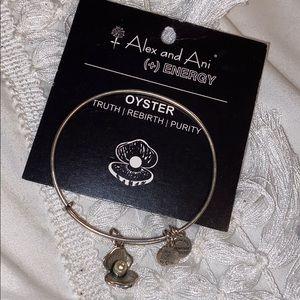 ALEX AND ANI silver Oyster bracelet